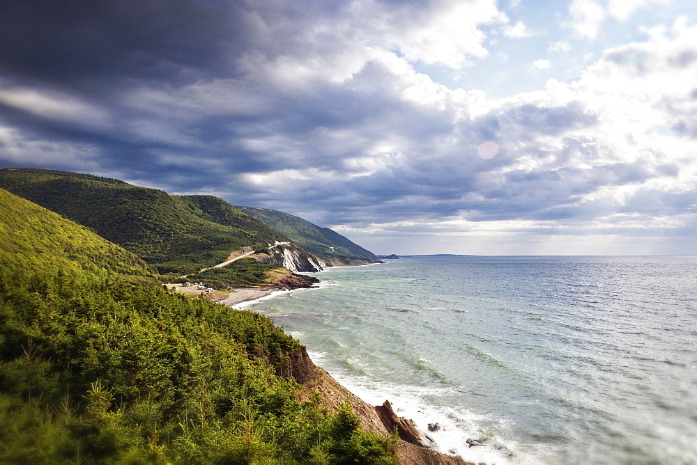 View of Coast and Highlands National Park of Canada in Cape Breton Island, Canada