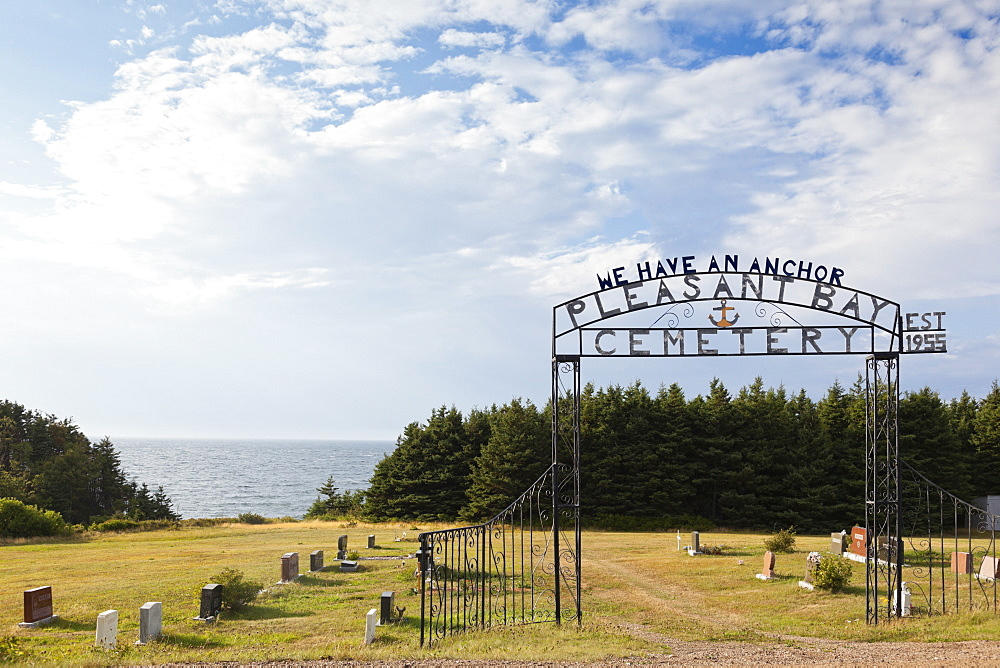 View of cemetery in Highlands National Park, Cape Breton Island, Canada