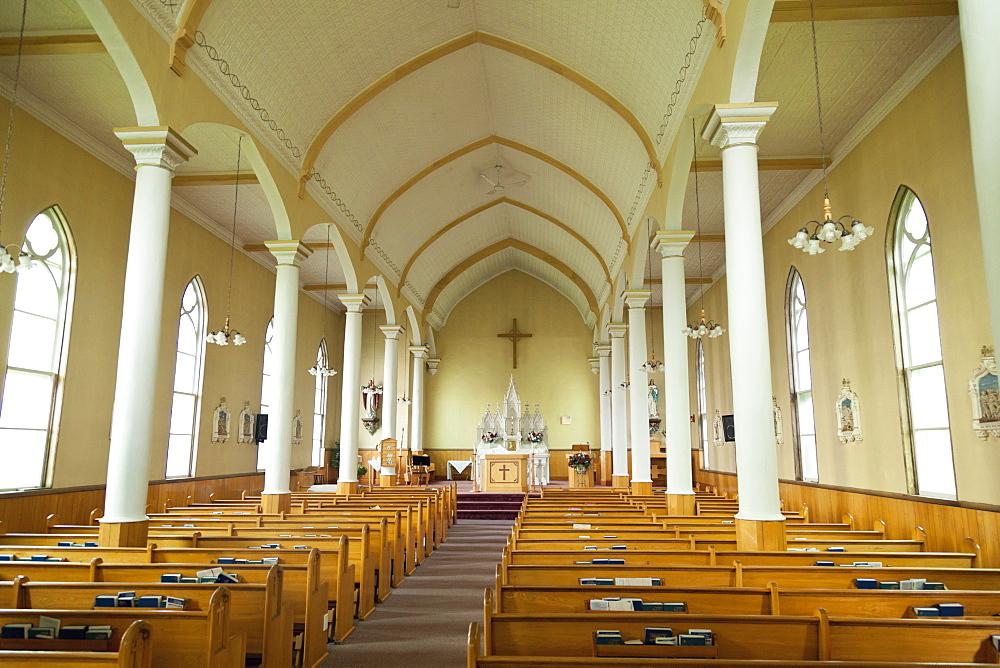 Interior of Church in Cape Breton Island, Canada