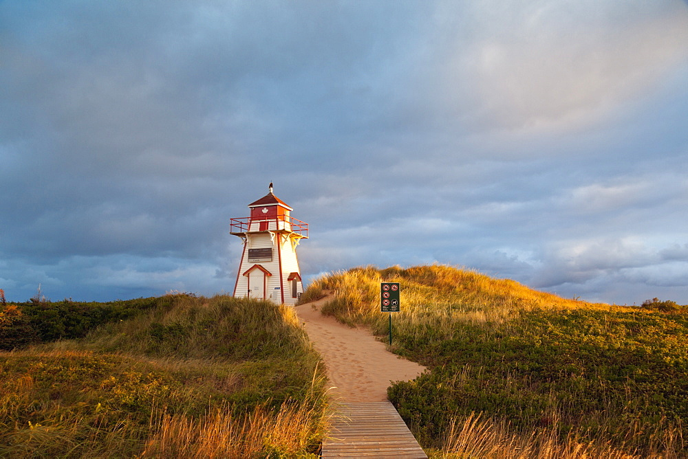 Lighthouse at Covehead in Prince Edward Island National Park, Canada - 1175-655