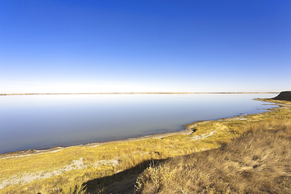 Landscape view of Rockin Beach Park near Rockglen, Saskatchewan, Canada