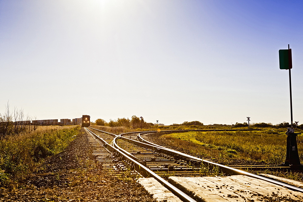 Railways tracks in Colonsay, Saskatchewan, Canada