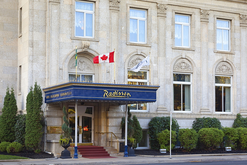 View of Hotel Radisson Plaza on Victoria Street, Regina, Saskatchewan, Canada