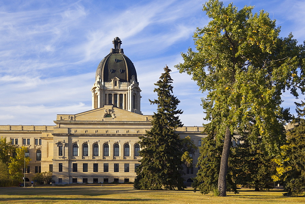 Facade of Legislative Assembly of Saskatchewan, Canada