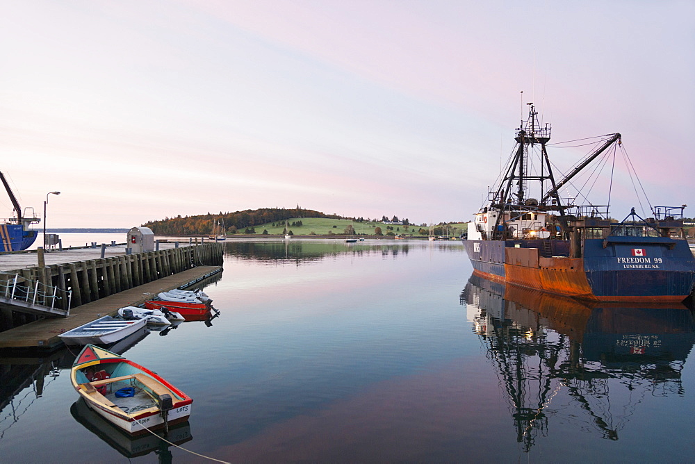 View of Lunenburg Harbour, Nova Scotia, Canada