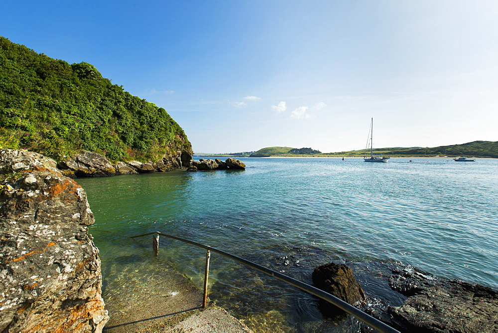 Padstow Bay at high tide (Cornwall, England)