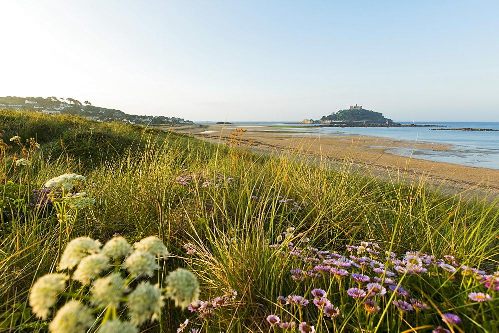 St. Michaels Mount, tidal island (Cornwall, England)