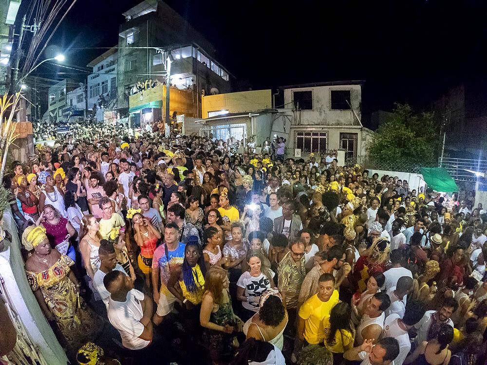 Carnival parade in a favela slum in Salvador