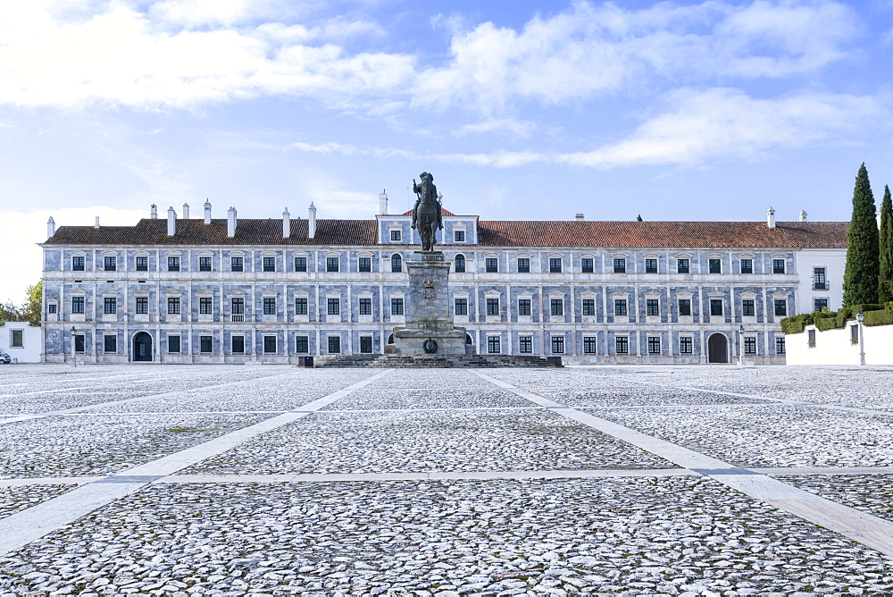 The Ducal Palace of the Dukes of Braganca (Braganza), whose scions included Catherine, Queen of England, Vila Vicosa, Alentejo, Portugal, Europe