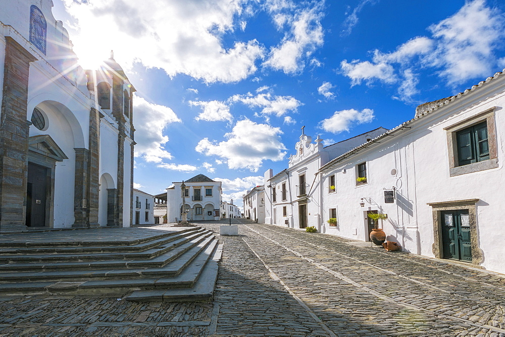 The centre of the medieval town of Monsaraz, Alentejo, Portugal, Europe