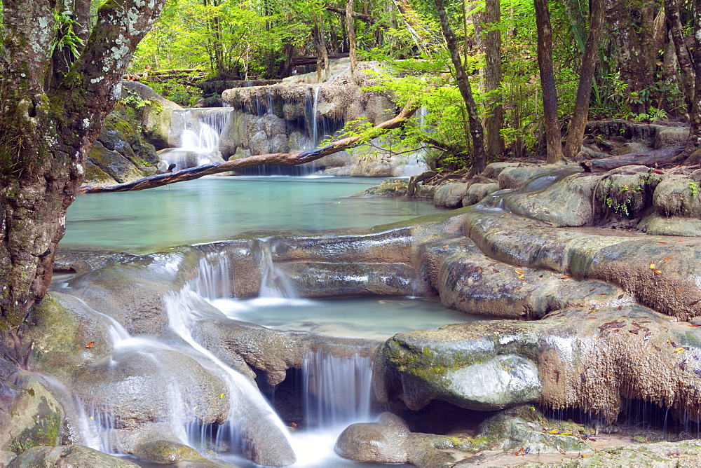 Erawan Falls, Kanchanaburi, Thailand, Southeast Asia, Asia