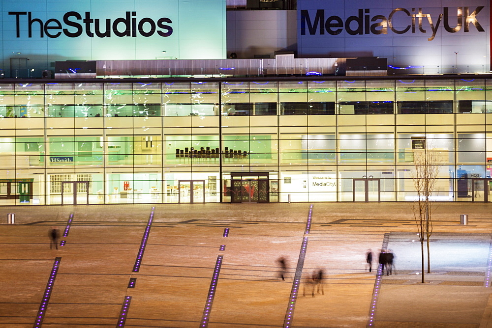 MediaCityUK, the BBC headquarters on the banks of the Manchester Ship Canal in Salford and Trafford, Greater Manchester, England, United Kingdom, Europe