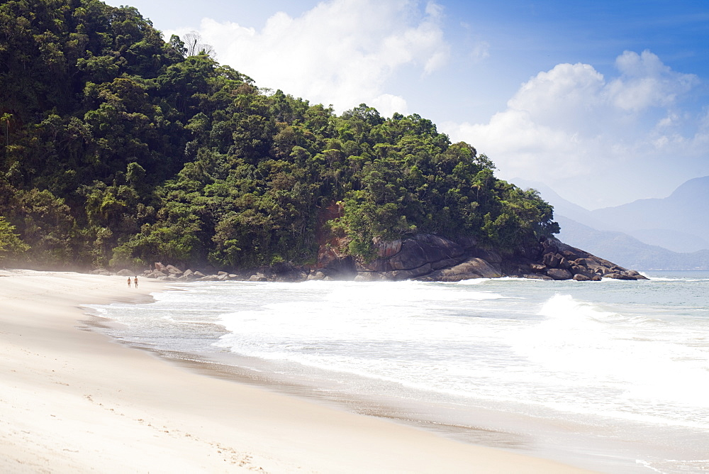 Praia do Felix beach, Ubatuba, Sao Paulo Province, Brazil, South America