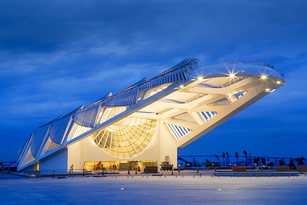 The Museu do Amanha (Museum of Tomorrow) by Santiago Calatrava opened December 2015, Rio de Janeiro, Brazil, South America - 1176-258