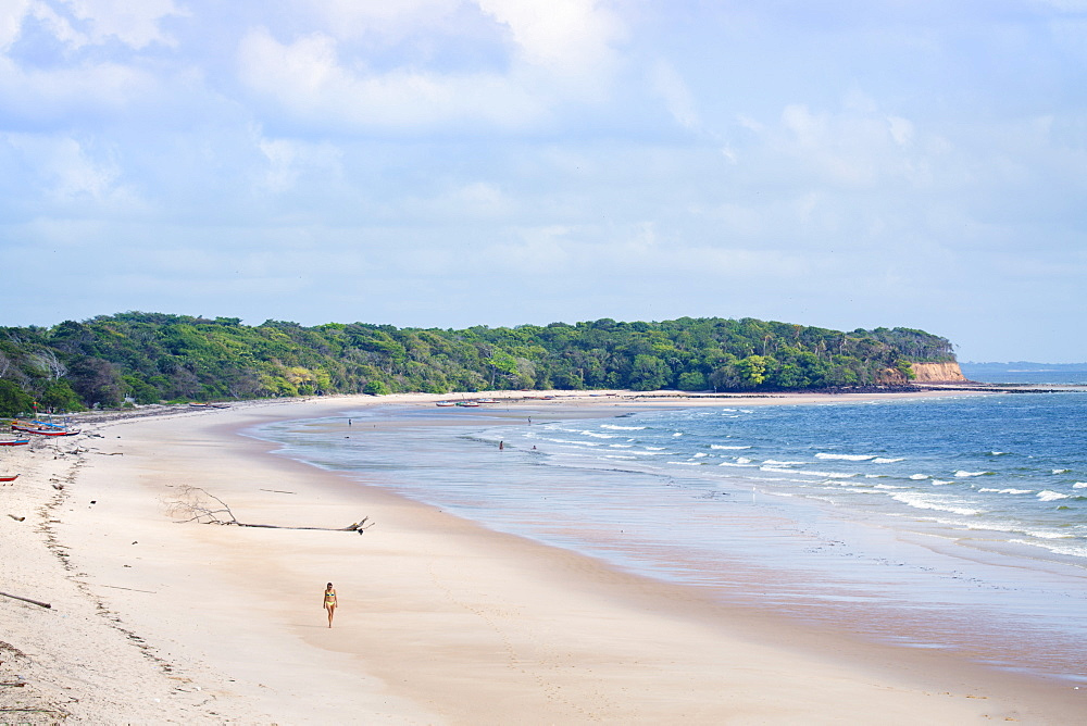 Joannes beach (Praia de Joannes) on Marajo island in the Brazilian Amazon, Para, Brazil, South America