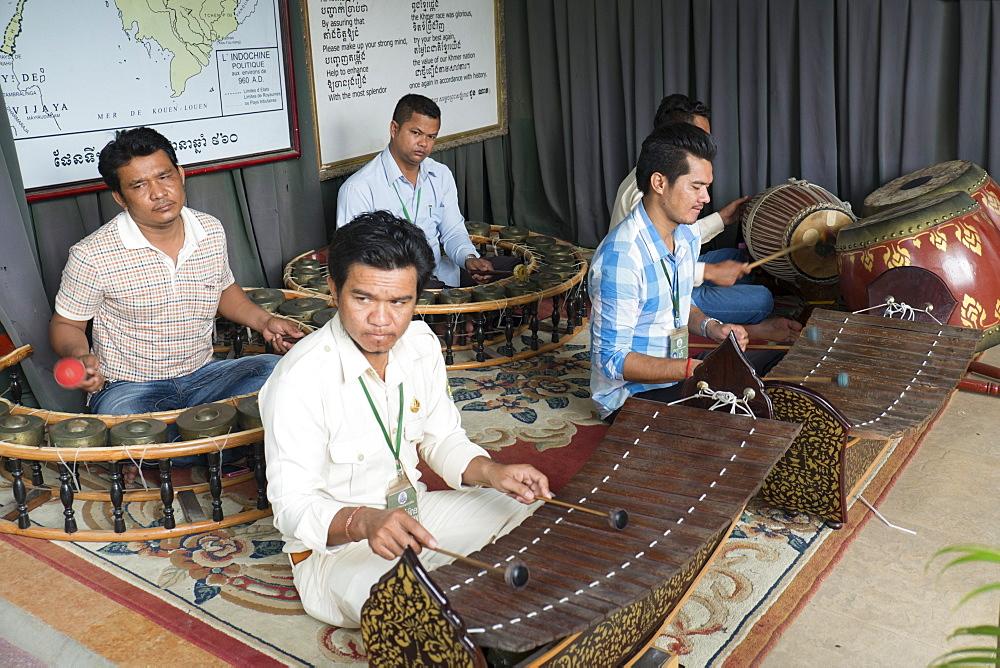 Gamelan musicians, Phnom Penh, Cambodia, Southeast Asia