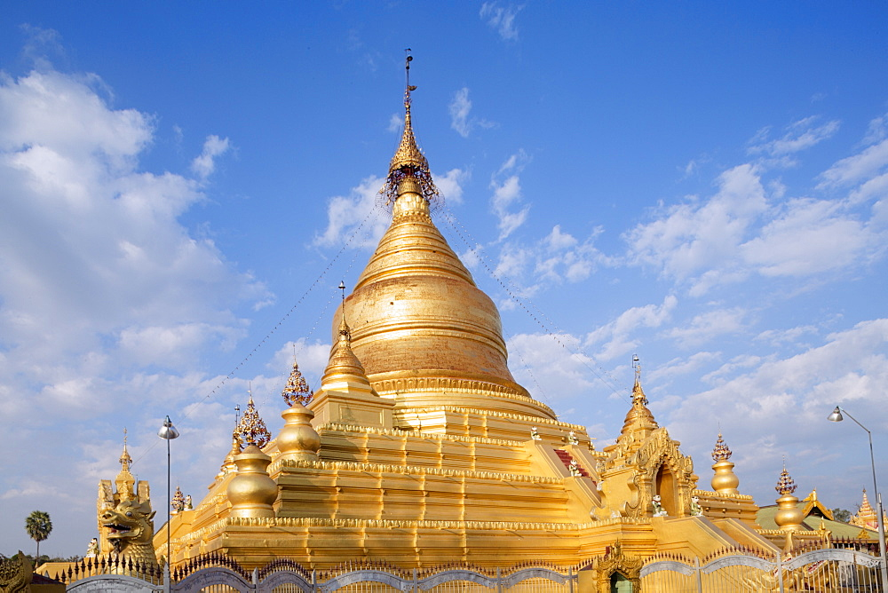 Main stupa in the Kuthodaw Paya Mandalay, Myanmar (Burma), Southeast Asia - 1176-377