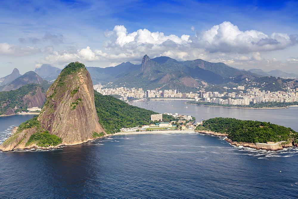 Sugar Loaf and Guanabara Bay, Rio de Janeiro, Brazil, South America