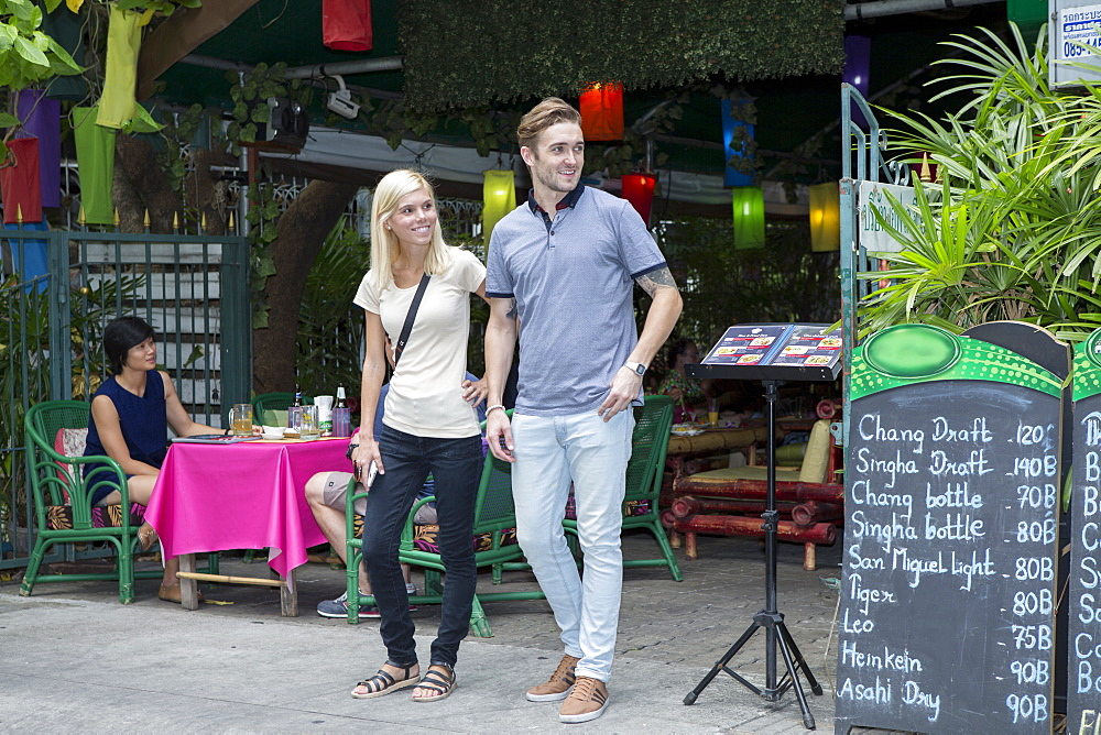 Tourists near Khao San road in Bangkok, Thailand, Southeast Asia, Asia