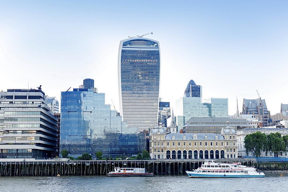 City of London skyline showing the Walkie Talkie building, London, England, United Kingdom, Europe