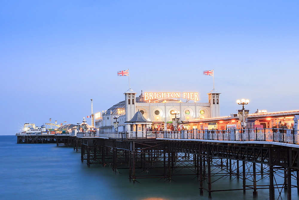 Palace Pier, (Brighton Pier), Brighton, Sussex, England, United Kingdom, Europe