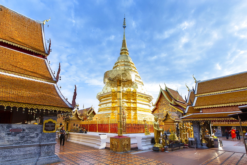 Doi Suthep temple, Chiang Mai, Thailand, Southeast Asia, Asia