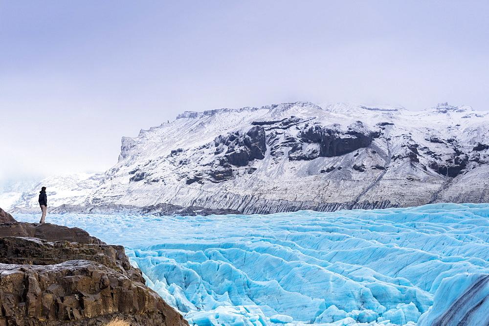 Vatnajokull glacier near Skalafsll, Iceland, Polar Regions