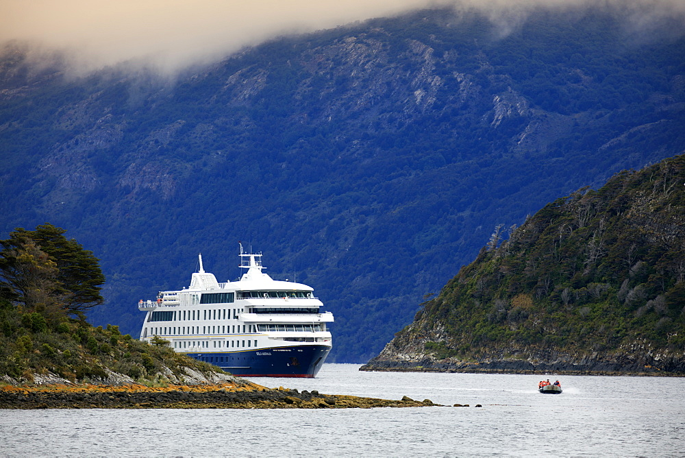 Chile Patagonia, the Stella Australis cruise ship in the Beagle Channel