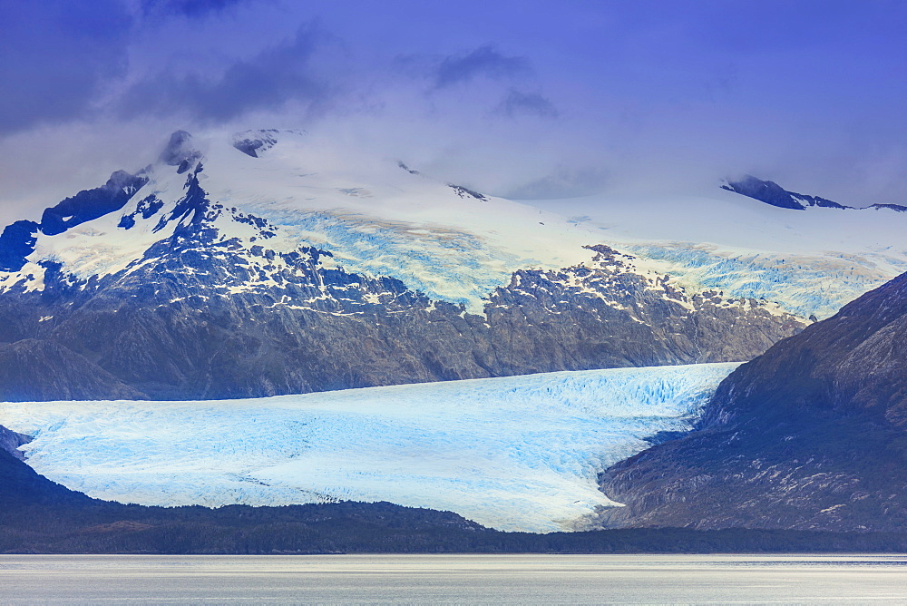 Stock photo of glacier in the Darwin Mountain range (Cordillera Darwin), Alberto de Agostini National Park