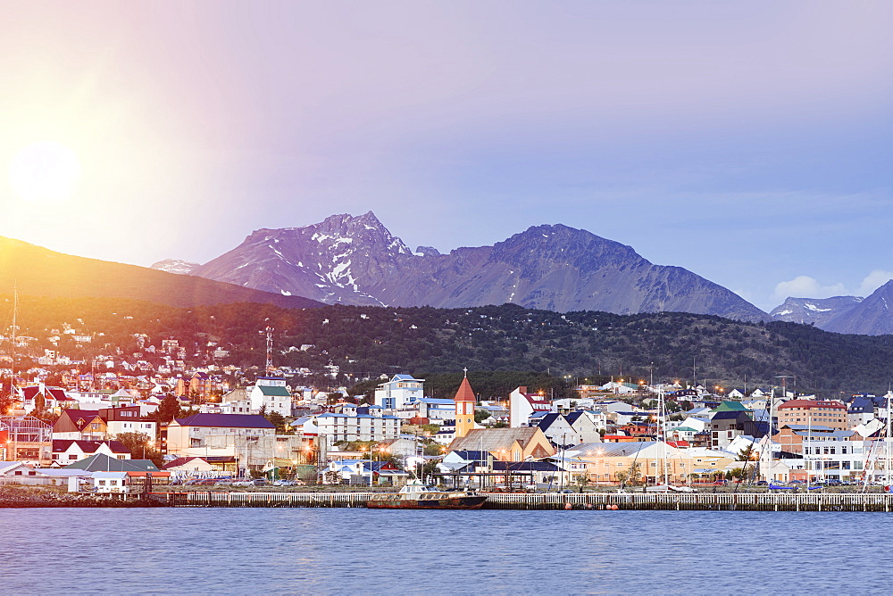 Ushuaia city on Tierra del Fuego island, Argentina, South America