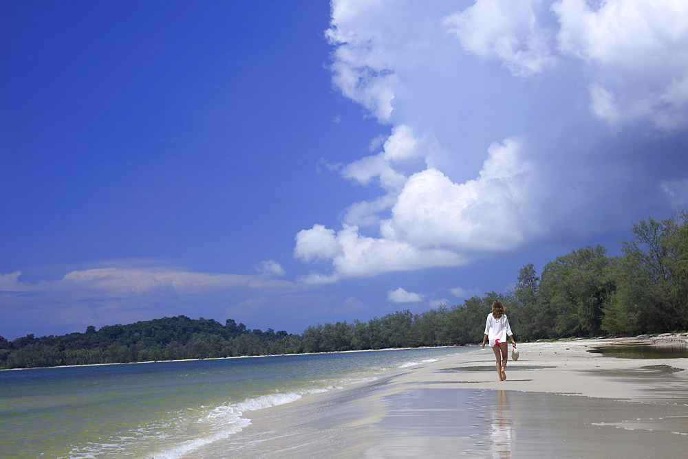 Beach in Ream National Park, Sihanoukville, Cambodia, Indochina, Southeast Asia, Asia - 1176-675
