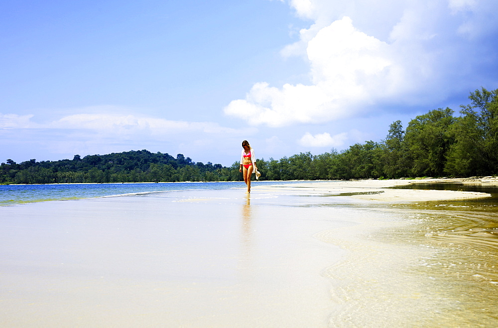 Beach in Ream National Park, Sihanoukville, Cambodia, Indochina, Southeast Asia, Asia