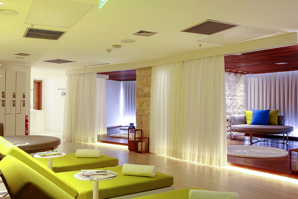 Spa in the newly refurbished Hotel Nacional by architect Oscar Niemeyer, Rio de Janeiro, Brazil, South America - 1176-715