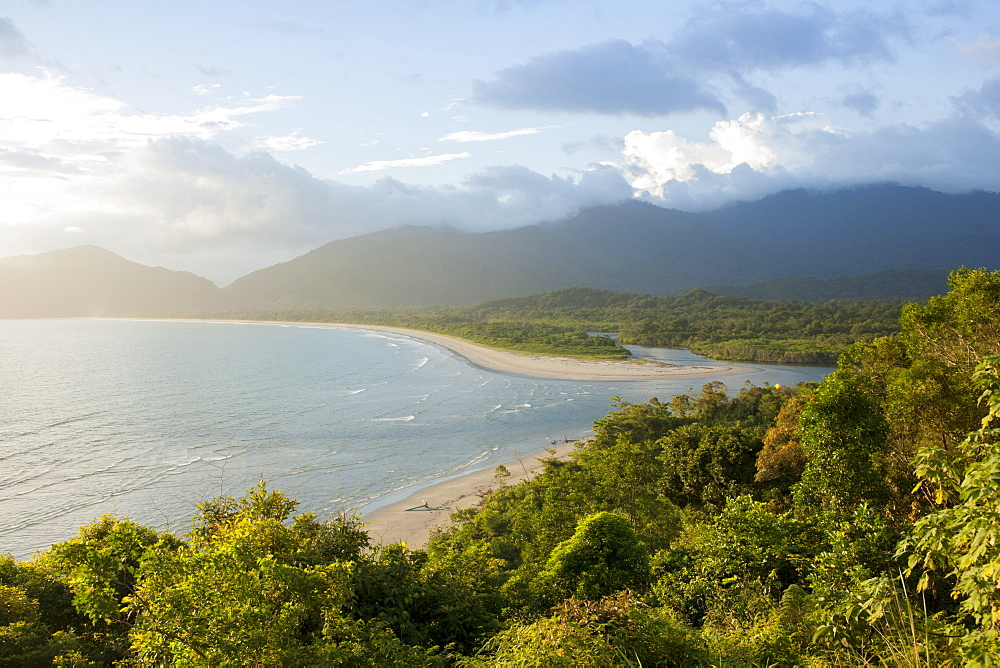 View of Fazenda Beach, Ubatuba, Sao Paulo, Brazil, South America