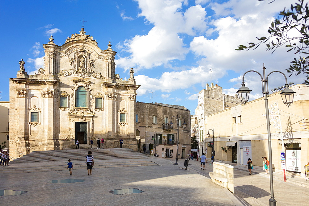 The ancient Church San Francesco D'Assisi in the historical center of the old town Matera Basilicata Italy Europe