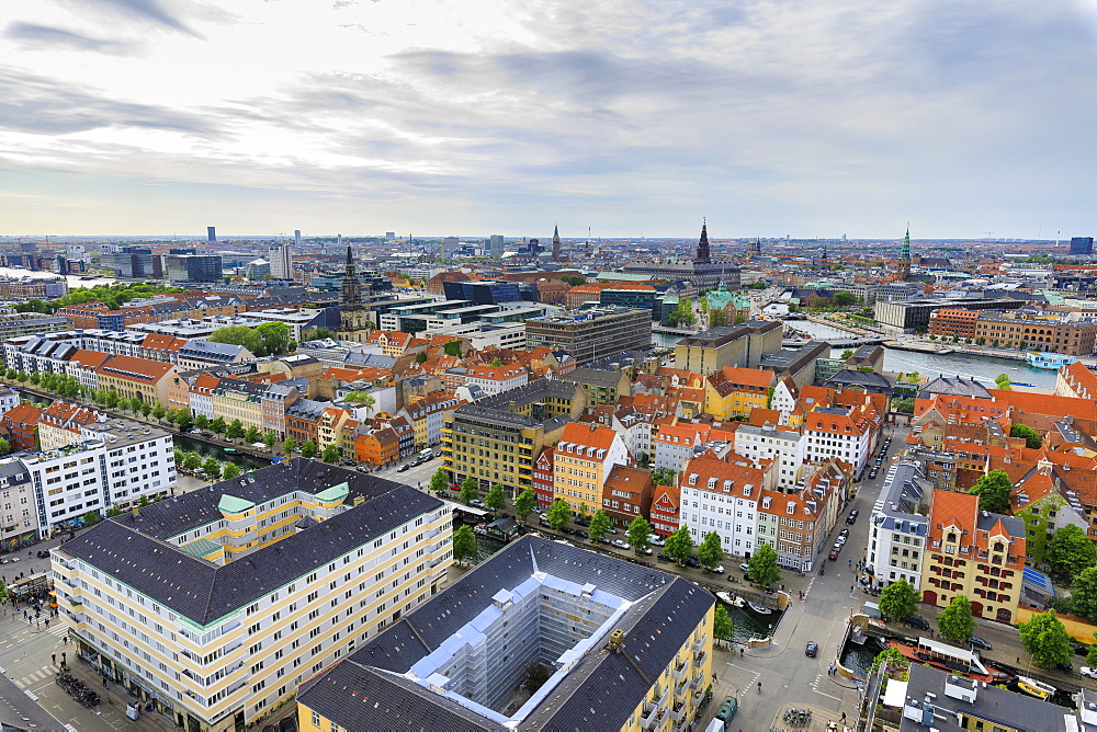 Overview of the city seen from Church of Our Saviour, Copenhagen, Denmark, Europe - 1179-2429