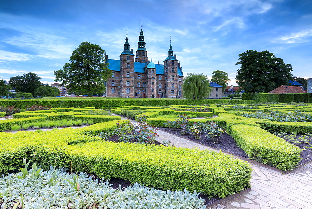Rosenborg Castle seen from the gardens of Kongens Have, Copenhagen, Denmark, Europe