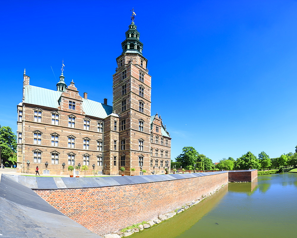 Panoramic of Rosenborg Castle built in the Dutch Renaissance style, Copenhagen, Denmark, Europe - 1179-2436