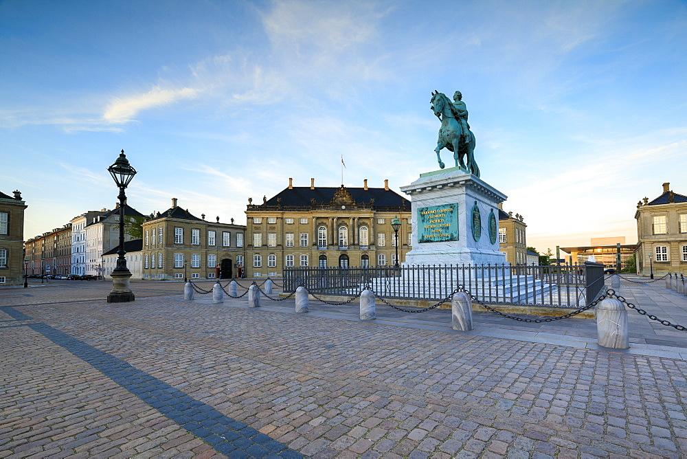 Statue of Frederick V, Amalienborg Palace Square, Copenhagen, Denmark