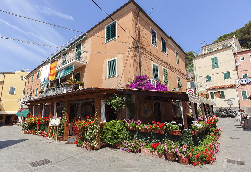 Typical restaurant in the old town of Porto Azzurro, Elba Island, Livorno Province, Tuscany, Italy - 1179-2625