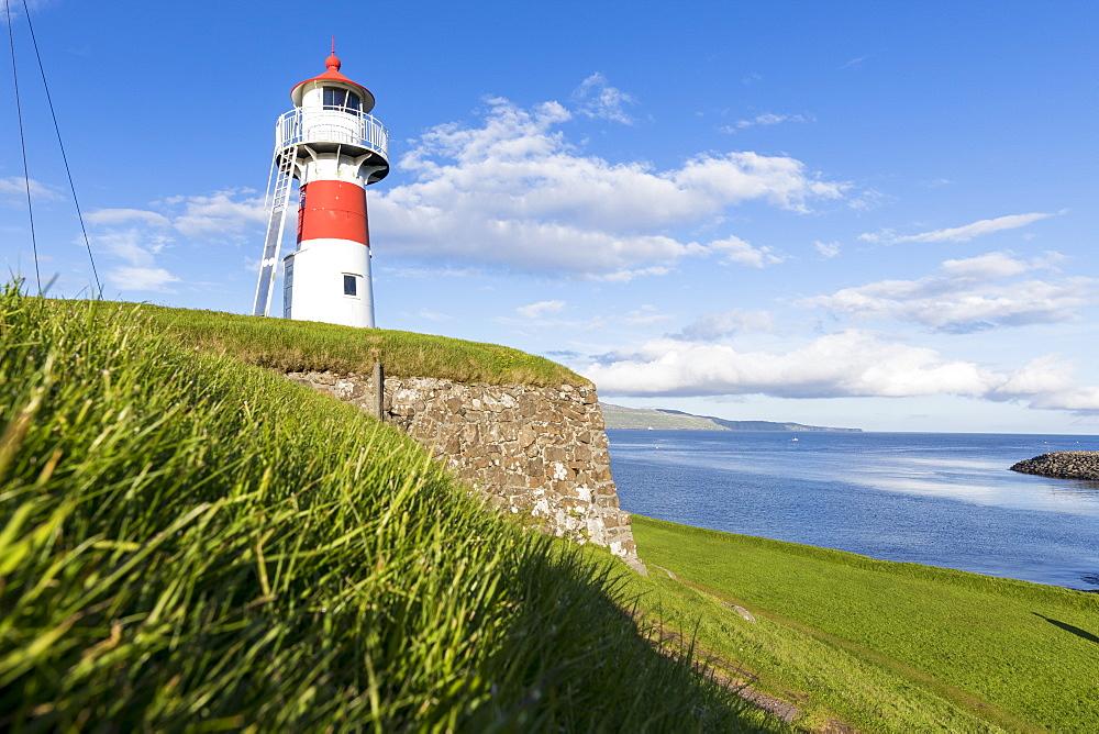 Lighthouse and historical fortress of Skansin,Torshavn, Streymoy Island, Faroe Islands, Denmark, Europe