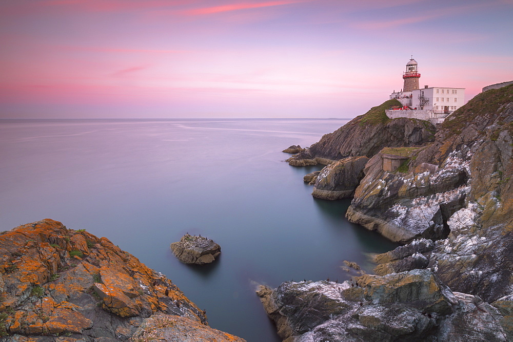 Sunset on Baily Lighthouse, Howth, County Dublin, Republic of Ireland, Europe