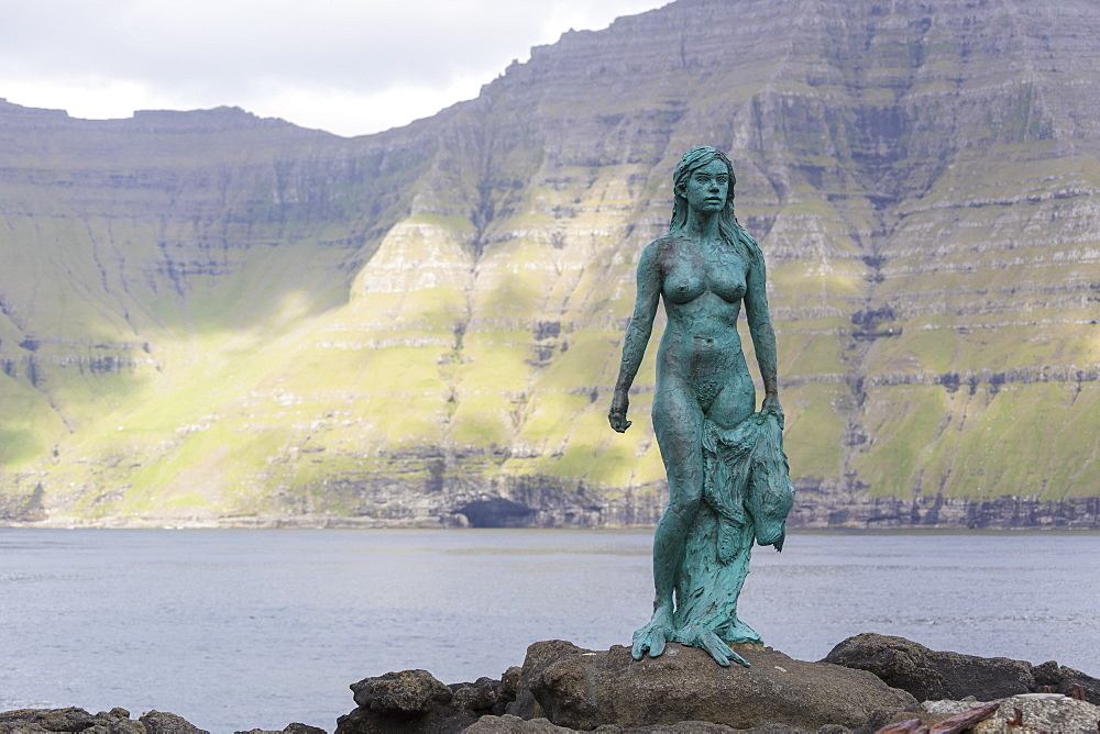 The Seal Woman of Mikladalur (Kopakonan), Kalsoy Island, Faroe Islands, Denmark, Europe