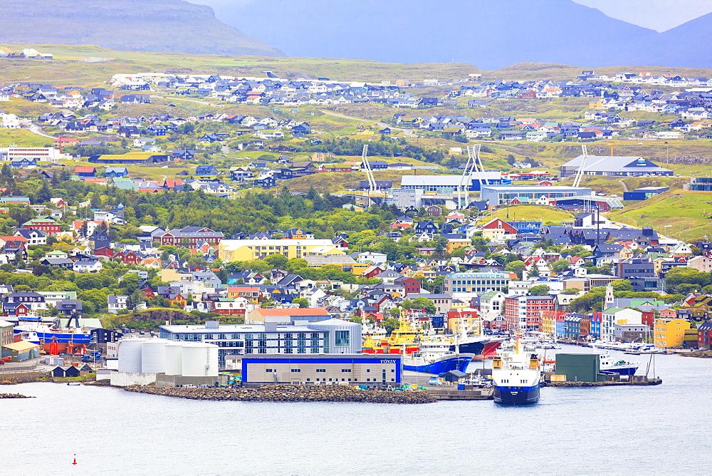 Harbour of Torshavn, Streymoy Island, Faroe Islands, Denmark, Europe