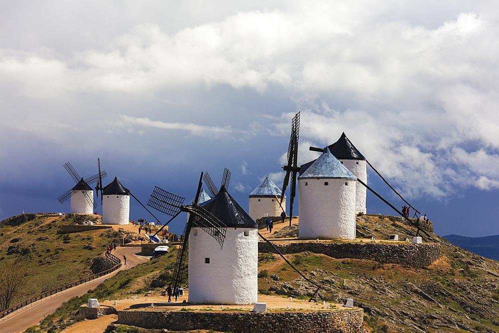 Windmills of Consuegra, Don Quixote route, Toledo province, Castilla-La Mancha (New Castile) region, Spain, Europe - 1179-3402