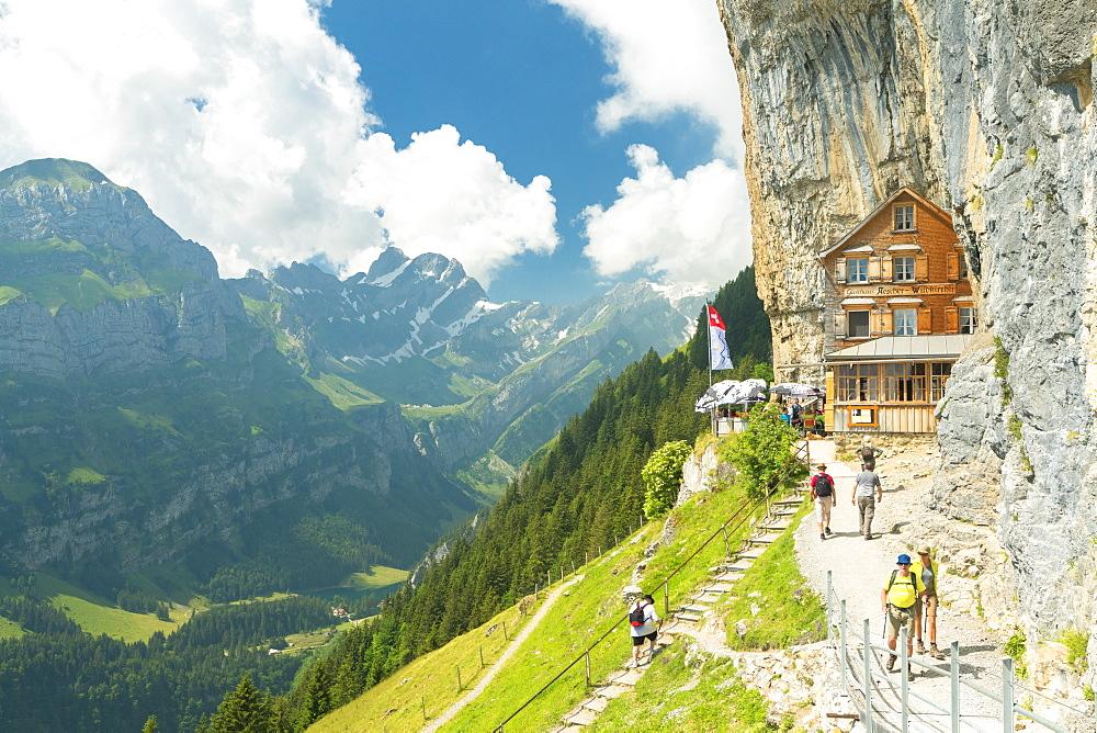 Aescher-Wildkirchli Gasthaus, Ebenalp, Appenzell Innerrhoden, Switzerland