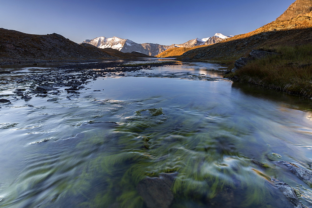 The Levanne mountains at sunrise, Gran Paradiso National Park, Alpi Graie (Graian Alps), Italy, Europe