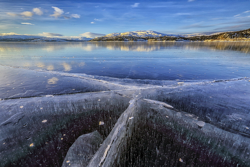 The frozen Lake Limingen, Rorvik, Borgefjell National Park, Trondelag, Norway, Scandinavia, Europe