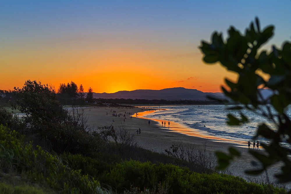 Byron Bay, Clarks Beach at sunset, New South Wales, Australia, Pacific - 1181-2