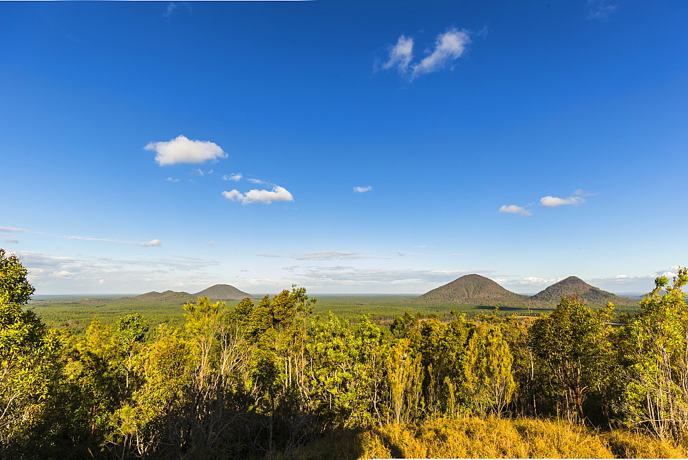 Glasshouse Mountains general view, Queensland, Australia, Pacific - 1181-3